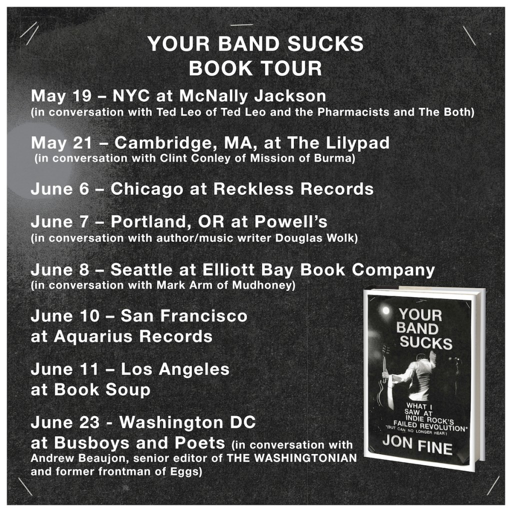 Your Band Sucks book tour.indd