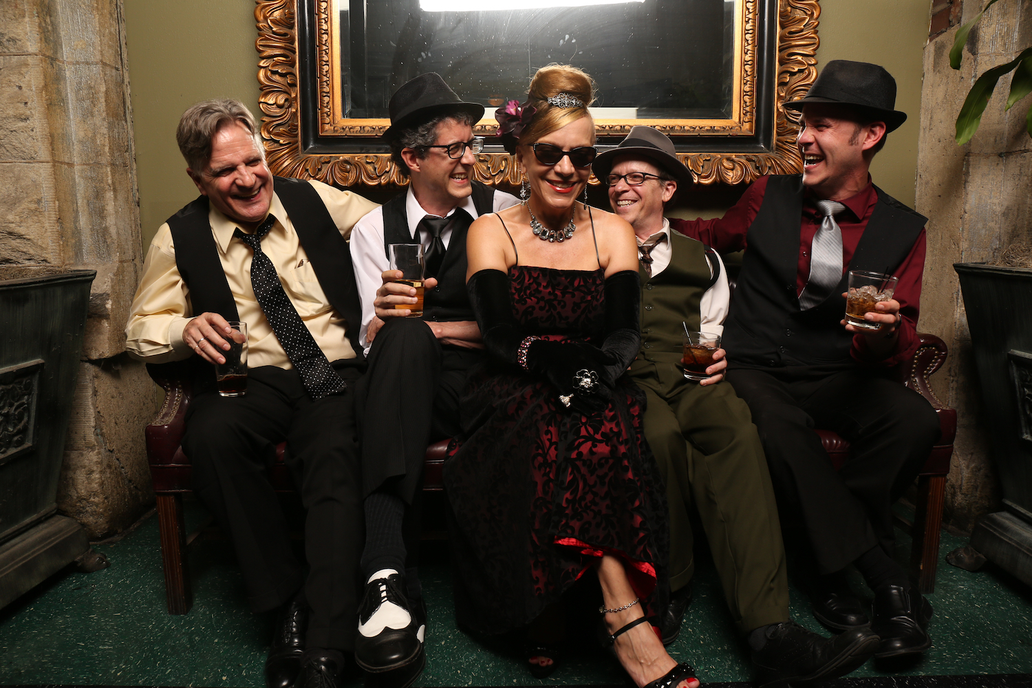 Eight O'Five Jive, Nashville TN-based swing band. photos by Bill Steber